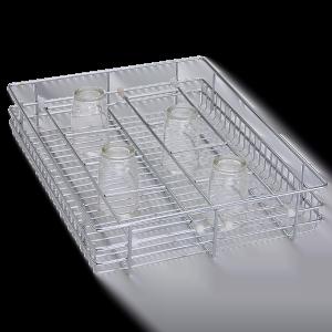 Glass Basket ( 4″ Height X 21″ Width X 20″ Depth ) Stainless Steel
