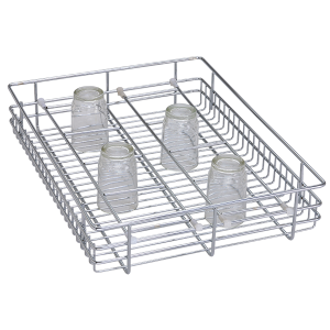 Glass Basket ( 4″ Height X 19″ Width X 20″ Depth ) Stainless Steel