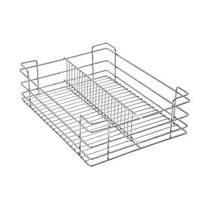 Partition Basket (4″ Height X 15″ Width X 20″ Depth) 5mm wire Stainless Steel