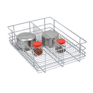 Partition Drawer Basket (4″ Height X 12″ Width X 20″ Depth) 6mm wire Stainless Steel