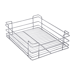 PLAIN DRAWER BASKET (4″ HEIGHT X 17″ WIDTH X 20″ DEPTH) 5MM WIRE STAINLESS STEEL