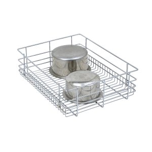 PLAIN DRAWER BASKET (4″ HEIGHT X 17″ WIDTH X 20″ DEPTH) 6MM WIRE STAINLESS STEEL